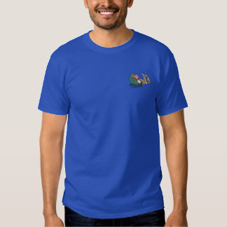 Santa In Sleigh Embroidered T-Shirt