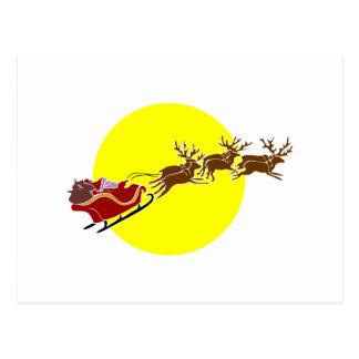 Santa in Sleigh Postcard