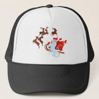 Santa in Sleigh Trucker Hat