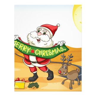 Santa in the desert customized letterhead