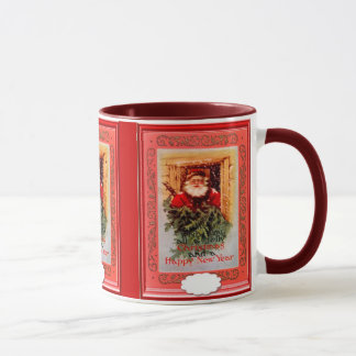 Santa in the window mug