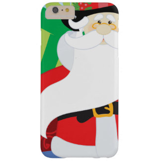 santa in tophat by  stack of presentts barely there iPhone 6 plus case