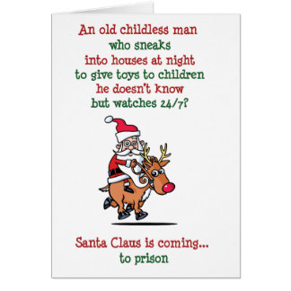 Santa is Watching Card