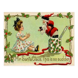 Santa Jack-In-A-Box Postcard