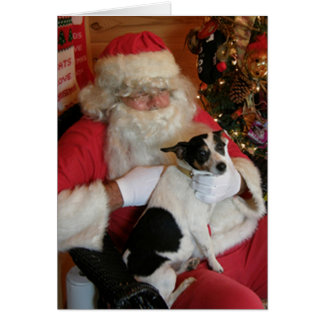 Santa & Jack Russell Card