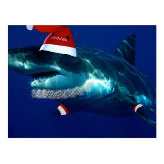 Santa Jaws Postcard
