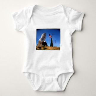 Santa, Jesus, America Baby Bodysuit