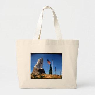 Santa, Jesus, America Large Tote Bag