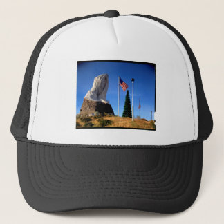 Santa, Jesus, America Trucker Hat