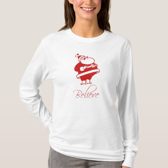 Santa Jolly Laughing (believe) T-Shirt