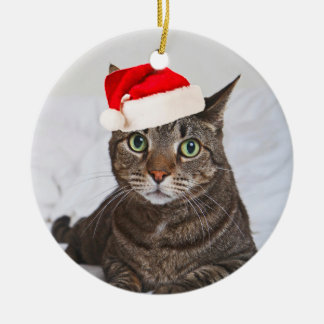 Santa Kip Round Ceramic Ornament