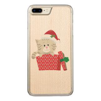 Santa Kitten Carved iPhone 7 Plus Case