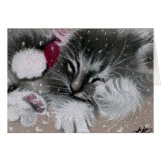 Santa Kitty Cat Card