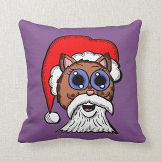 Santa Kitty Throw Pillow