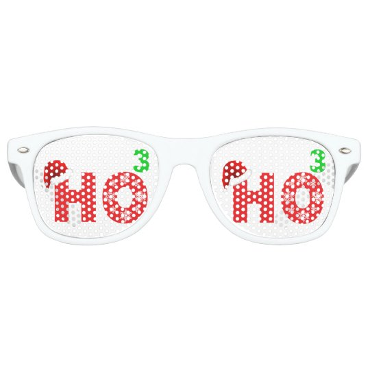 Santa Laugh at Christmas Retro Sunglasses