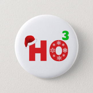 santa laughs at christmas 2 inch round button