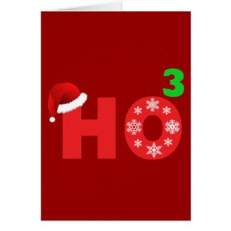 santa laughs at christmas card