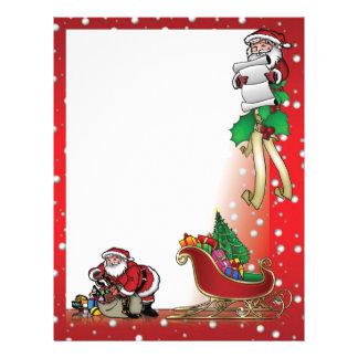 santa letter letterhead design