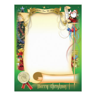 Santa Letter Letterhead Template