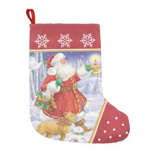 Santa Lion and Lamb Stocking