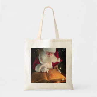 Santa Looking at Naughty and Nice Tote