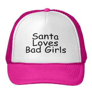 Santa Loves Bad Girls Trucker Hat
