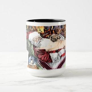 Santa Loves Pugs Too Mug