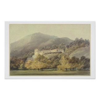 Santa Lucia, A Convent near Caserta, c.1795 (w/c o Poster