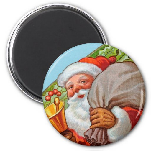 Santa Magnet for the Holiday Season - ROund