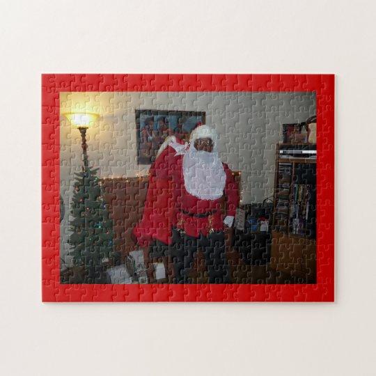 Santa Mama on Fresh Canvas Red CC0000 Jigsaw Puzzle