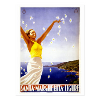 Santa Margherita Ligure Vintage Italian travel Postcard
