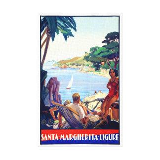 Santa Margherita Ligure Vintage Poster Restored Canvas Print