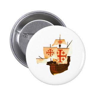 Santa Maria 2 Inch Round Button