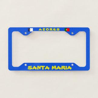 Santa Maria Azores License Plate Frame