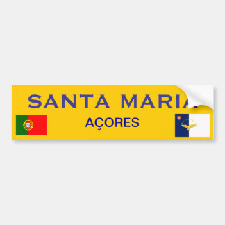Santa Maria* Bumper Sticker