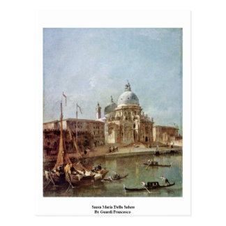 Santa Maria Della Salute By Guardi Francesco Postcard