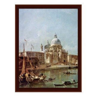 Santa Maria Della Salute By Guardi Francesco Postcard