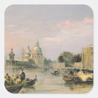 Santa Maria della Salute, Venice, 19th century Square Sticker