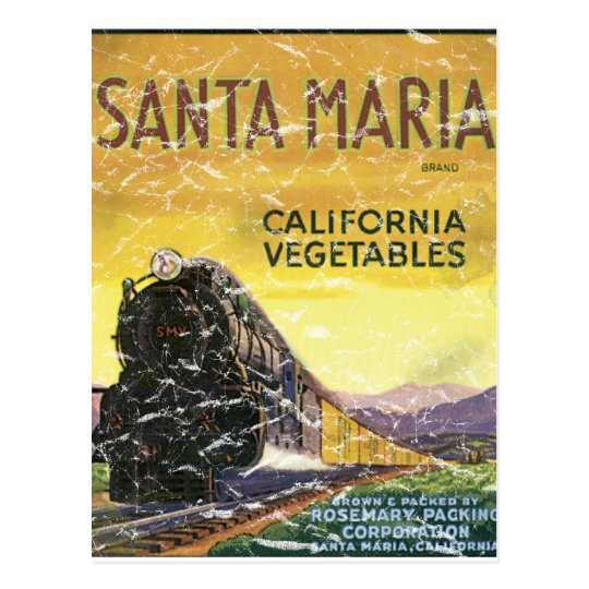 Santa Maria - distressed Postcard