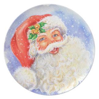 Santa Melamine Plate