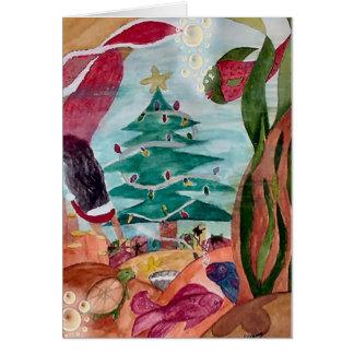 Santa Mermaid Christmas card