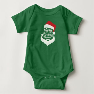Santa Merry Christmas Everyone Jersey Bodysuit