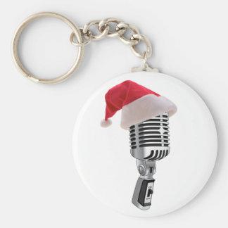 santa microphone keychain