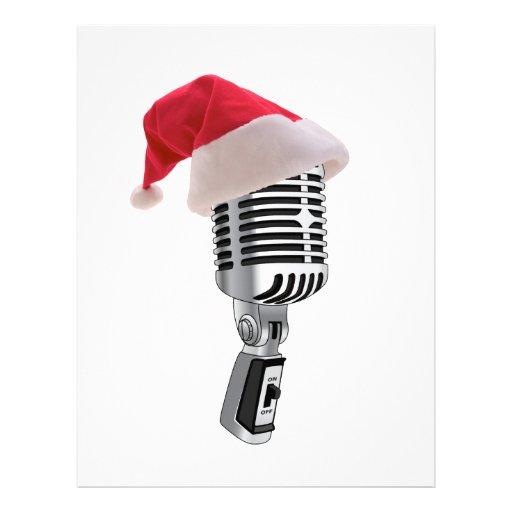 santa microphone letterhead