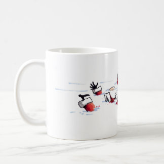 Santa Mob Hit right hand coffee mug
