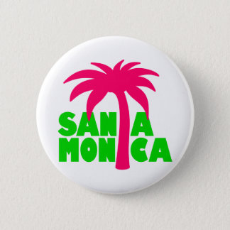 Santa Monica 2 Inch Round Button