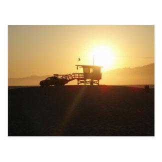 Santa Monica at Sunset Postcard