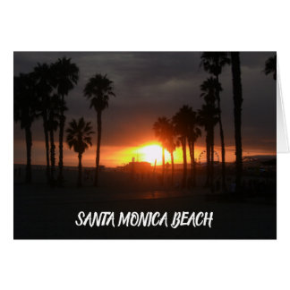 Santa Monica beach Card