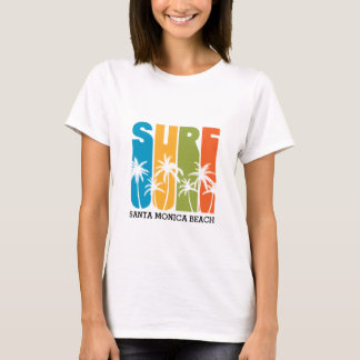 SANTA MONICA BEACH SURF T-SHIRT