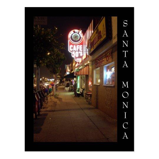 Santa Monica Boulevard, Santa Monica California Postcard
